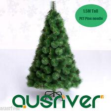 5FT 1.5M Deluxe Pine Needle Xmas Christmas Tree Metal Frame 220 Tips Saturn 150