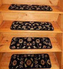 "18 Step 9"" x 26"" + 3 Landing 26"" x 18"" Stair Treads  Wool Woven Carpet"