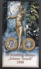 AUSTRIA 50 Schilling 1999 Johann Strauss