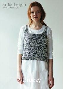 Erika Knight Ladies vest Top Knitting Pattern Breezy In DK (Gossypium Cotton)