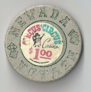 $1 LAS VEGAS CIRCUS CIRCUS 1ST EDT CASINO CHIP VINTAGE OLD NEVADA VERY RARE 2