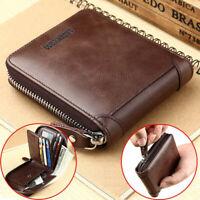 Wallet Men's Short Wallets Casual PU Zipper Coin Purse Male Card Holder Wallet
