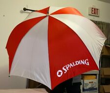 Large Rare Vintage Spalding Umbrella Striped Red White New with tags N