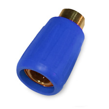 More details for carpet cleaning hose quick connectors with heat sheild (blue)