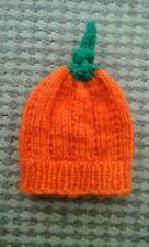 Hand knitted Halloween Pumpkin Baby Hat Newborn Size