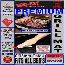 Rigid Grill Mat Premium for BBQ (4x Thicker)+DuPont Teflon+Money Back Guarantee