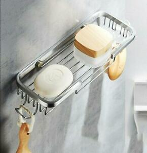 Stainless Steel Wall Mounted Shower Soap Holder With Hanger Storage Soap Bracket