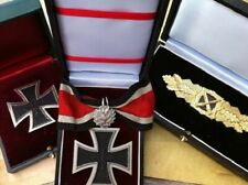 WW2 WWII WH Knights Iron Cross Silver Oak Leaves Close Combat Clasp General Set