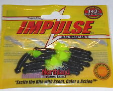 "Northland Tackle Impulse 1.5"" Paddle Bug Jig Trailers (Black-Chart-10 ct)"