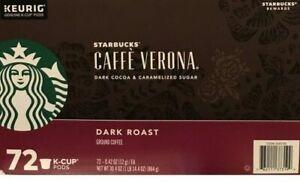 Starbucks Coffee Keurig K-Cups Caffe Verona Dark Roast K-Cup 72 Ct EXP 8/21+