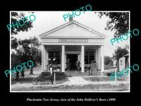 OLD LARGE HISTORIC PHOTO OF PLUCKEMIN NEW JERSEY, THE DOLLIVER STORE c1890