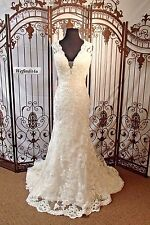 P71 DAVID TUTERA FOR MON CHERI 116204 SZ 14 IVORY $1499 WEDDING GOWN DRESS