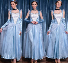 Xmas Adult Cinderella Snow White Aurora Costume Fairytale Princess Dress Cosplay
