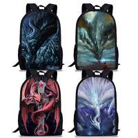 Dragon Mens Backpack Womens Rucksack College School Shoulder Bookbag Laptop Bag