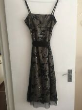 Oasis sequin and netting black and white dress size 10