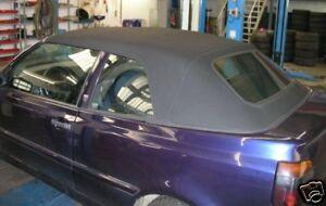 VW Golf 3 Cabrio revêtement de capote tissu noir années construction 93- Juin 00