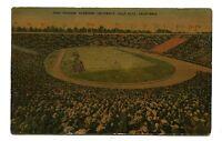 Vintage Postcard STADIUM STANFORD UNIVERSITY Palo Alto CA football 1943