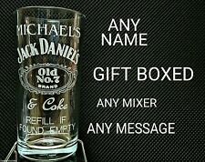PERSONALISED ENGRAVED JACK DANIELS GLASS high ball glass NAME MESSAGE GIFT BOXED
