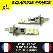 4 AMPOULE LAMPE H1 55W 6000K 12V 2 LED SMD FEU PHARE XENON SUPER WHITE