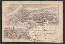 "Sachsen  Ak Litho  "" Gruss aus Klingenthal "" 1893 nach Böhmen"