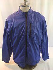 Robert Graham X Zip Front Windbreaker Jacket Men's Xl Blue Moisture Wicking