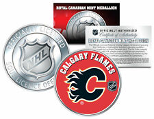 CALGARY FLAMES Royal Canadian Mint Medallion NHL Colorized Coin * LICENSED *
