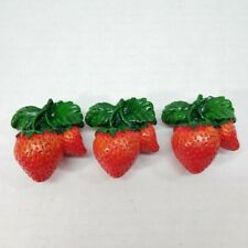 STRAWBERRY Cabinet Drawer Pull KNOB  Lot of 3
