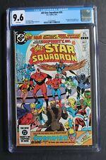 ALL-STAR SQUADRON #25 1st Infinity Inc ATOM SMASHER Black Adam Film 1983 CGC 9.6