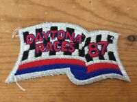 Vintage 1987 Nascar Daytona Races Checkered Flag Embroidered Sew On Patch