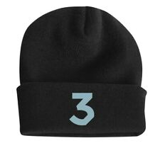 """Chance the Rapper """"Chance 3"""" Black Beanie Hat OS Acrylic stretch"""