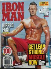 Iron Man August 2017 Brandan Fokken Get Lean Strong Muscle Now FREE SHIPPING sb