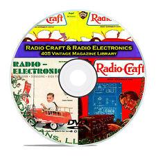 Radio Craft, Radio Electronics, 405 Classic Old Radio OTR Magazines PDF DVD B79