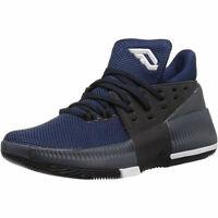 adidas D Lillard 3 J Basketball Shoes - Utility Black/Blue - BW0483 - Sz: 6 Y