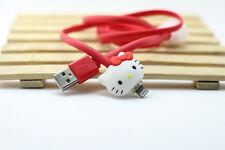 Hello Kitty Samsung LED Kabel leucht Ladekabel u. v. a. Handy Modelle neu