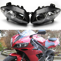Front Left & Right Headlight Headlamp Assembly For Yamaha YZF R1 2004 2005 2006