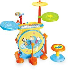 Electronic Drum Set Kit Musical Mic Child Boys Girls Child Big Band Play Set Toy