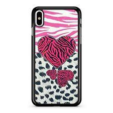 Pretty Pink Zebra Camo Pattern Filled Love Hearts Colourful Phone Case Cover