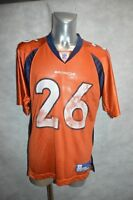 MAILLOT FOOT US REEBOK BRONCOS BELL  n° 26 JERSEY/MAGLIA  TAILLE M TEAM NFL