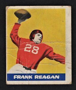 1948 Leaf Frank Reagan Rookie Card #48 - New York Giants