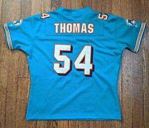 Zach Thomas - Miami Dolphins Teal Jersey - Reebok youth Medium - Stitched NFL