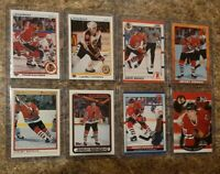 (8) Jeremy Roenick 1990-91 OPC Premier Upper Topps Score Pro Rookie card lot RC