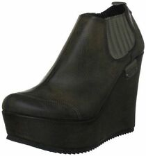 Elasticated Wedge Synthetic Leather Shoes for Women