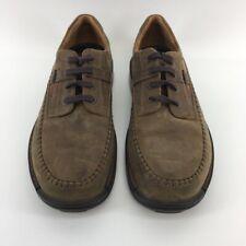 Ecco Light Mens Oxfords Shoes Brown Suede Lace Up Moc Toe Walking US 10 EUR 43