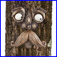 Old Man Tree Hugger Garden Peeker Yard Art Outdoor Sculpture Whimsical Face Deco