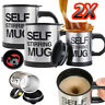 2x Self Stirring Mug Coffee Cup Auto Mixer Drink Tea Home Insulated Stainless