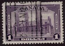 CANADA used   #245 $1. dull violet  'Chateau de Ramezay, Montreal' 1938 FINE