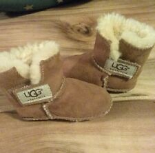 "Toddler Ugg slippers, size ""small"". Brown, gently used!"