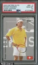 2003 Netpro Elite Tennis Event Edition Roger Federer PSA 10 GEM MINT