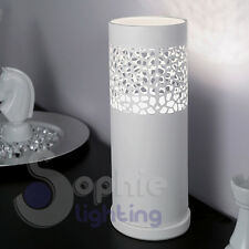Lampada  tavolo lumetto lume abat jour design moderno bianco comodino scrivania