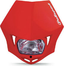 Polisport MMX Headlight CR Red Motorcycle Enduro Honda Universal Head Light NEW